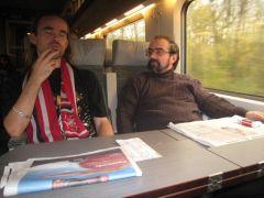 Retrouvailles dans le train