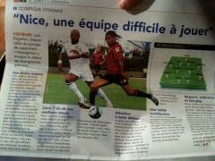 Extrait de l'interview de Loïc pour le journal de l'OGC Nice, un titre - hélas - bien vu