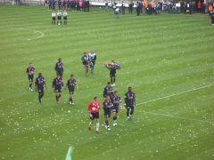 Hommage des joueurs Lyonnais
